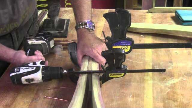 DYI Barrel Stave Easel
