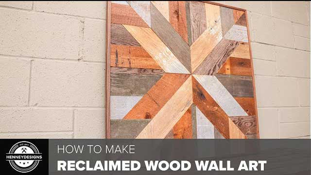 DIY Reclaimed Wood Wall Art