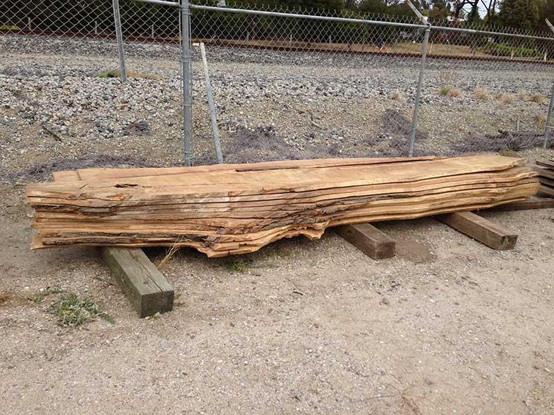 Reclaimed wood slabs