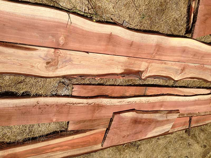 Reclaimed wood slabs